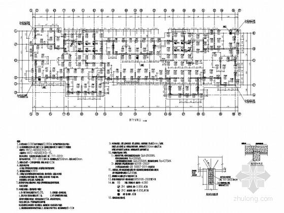 [江苏]19层剪力墙结构住宅楼结构施工图(193根空心方桩)