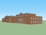 学校建筑SketchUp模型下载