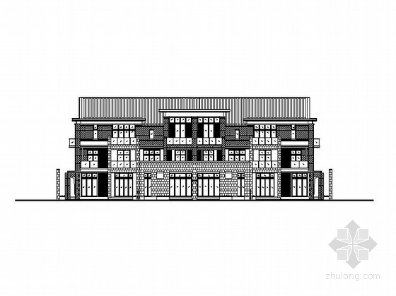 [江苏]三层联排式坡屋顶别墅建筑施工图