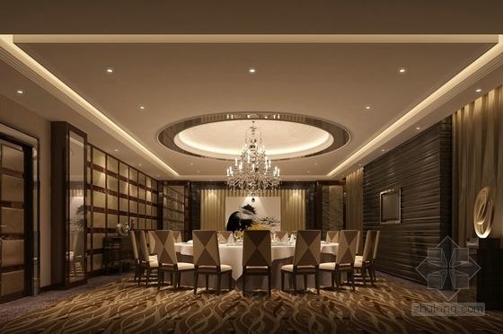 传统欧式餐厅豪华包房室内施工图效果图
