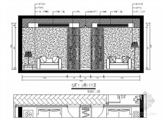 [福建]国际豪华欧式音乐会所设计施工图(含效果)包厢立面图