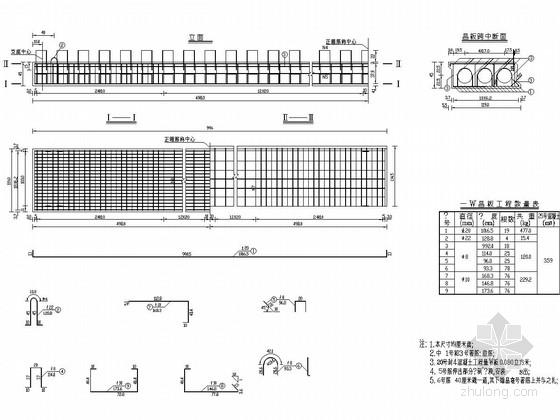 10m跨径普通钢筋砼桥上部构造通用图(14张)