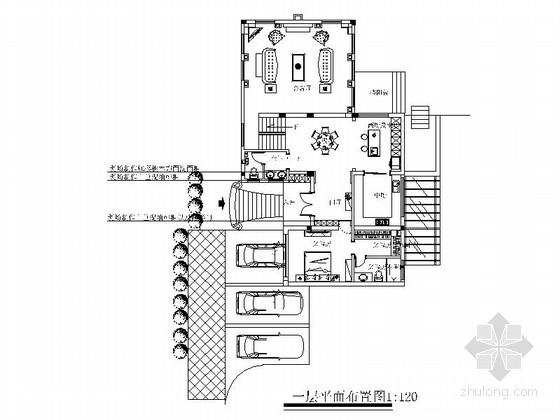 豪华欧式风格三层别墅样板间装修施工图