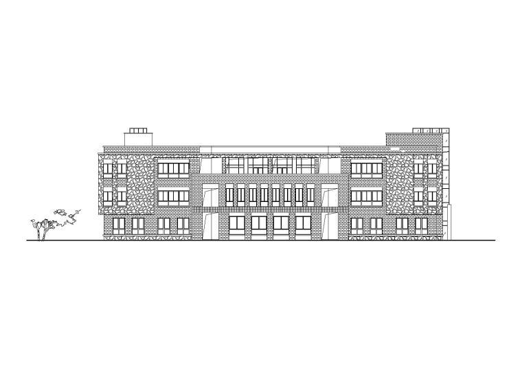 [湖南]长沙华润8班幼儿园建筑设计施工图(CAD+效果图)