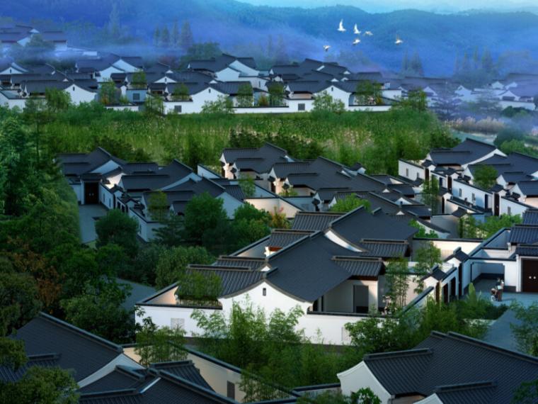 [浙江]杭州临安桃李春风规划设计方案(新中式,颐养小镇)
