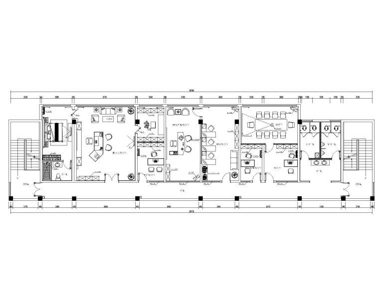南京联润办公室装修设计CAD施工图
