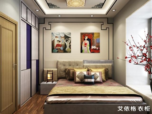 小卧室定制简单的移门衣柜[艾依格]
