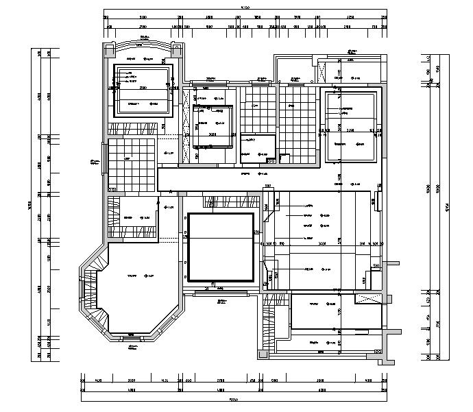 【江苏】现代简约风格样板房设计施工图(附效果图)_2