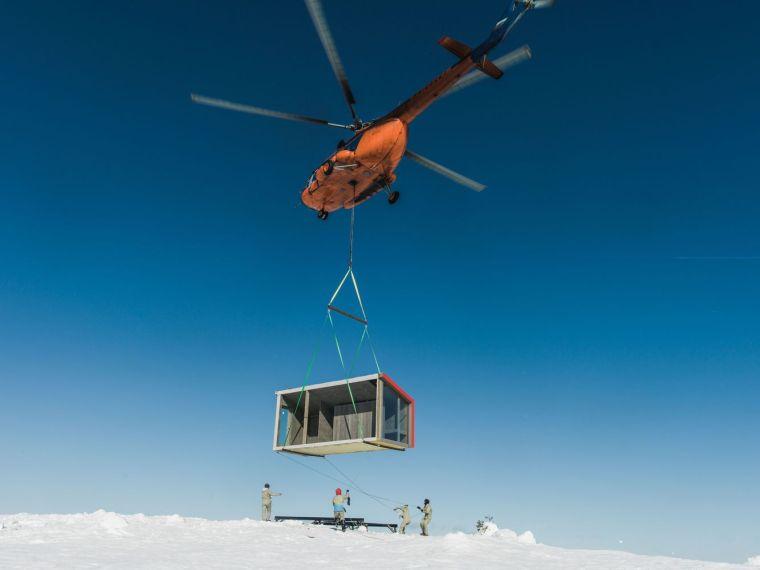 俄罗斯雪地上的DublDom预制观景屋-10