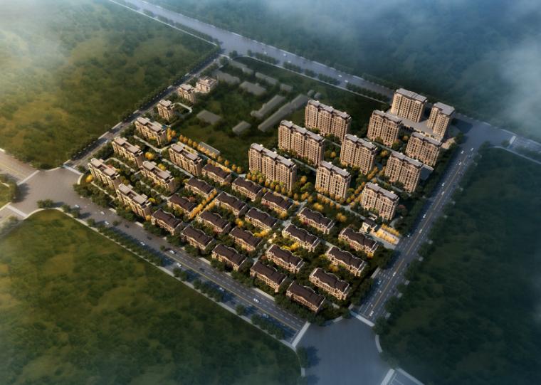 [山西]某新古典风格住区建筑设计方案文本模型