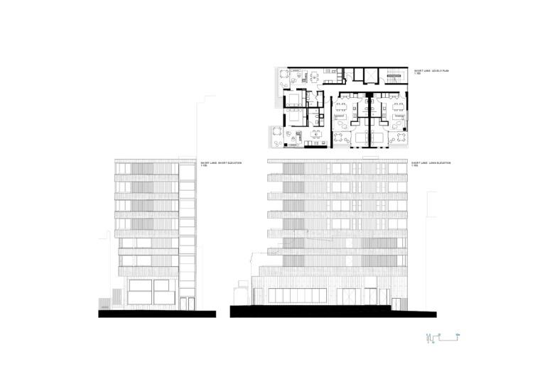 澳大利亚22套独特混合公寓立面图(13)