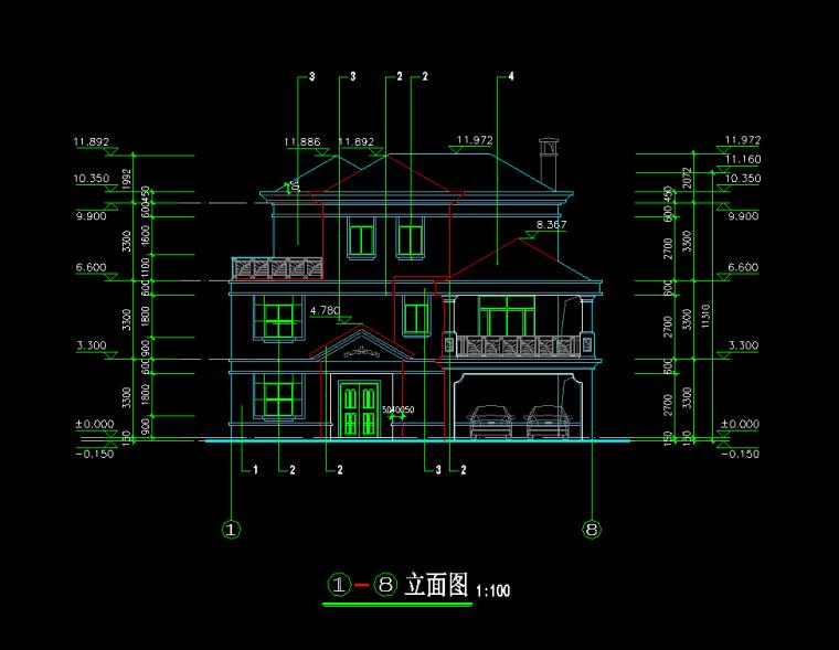 3层独栋别墅施工图