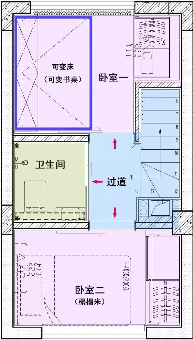 [干货]28㎡小户型3房3卫,设计师开挂了?_5