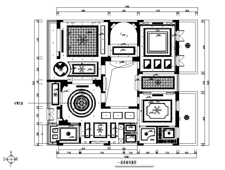【浙江】混搭风格玫瑰半岛别墅设计施工图(附效果图)_2