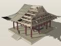 保国寺古建筑结构3D模型下载