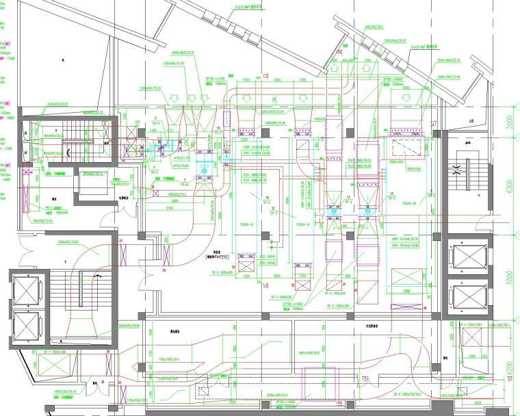 [浙江]温州大剧院暖通设计全套图纸(含通风系统、防排烟系统与消声隔振措施)