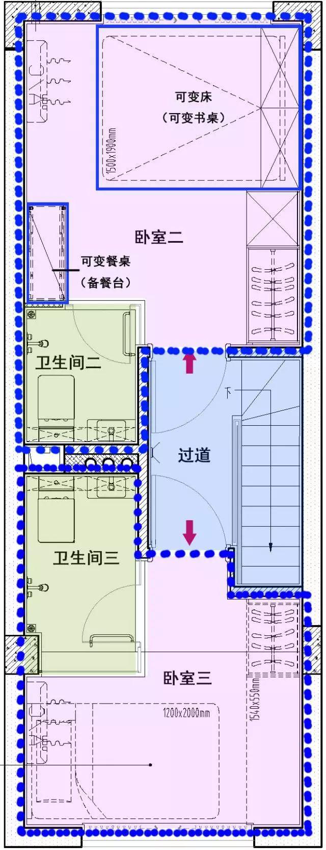 [干货]28㎡小户型3房3卫,设计师开挂了?_3