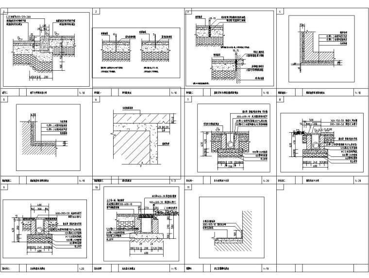 [西九]某居住区景观设计全套施工图(包含+60个CAD)-通用详图二