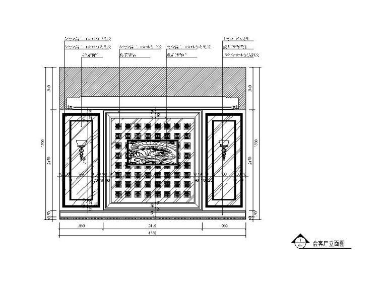 [湖南]欧式风格别墅v风格CAD施工图(含效果图)cad外部块图片