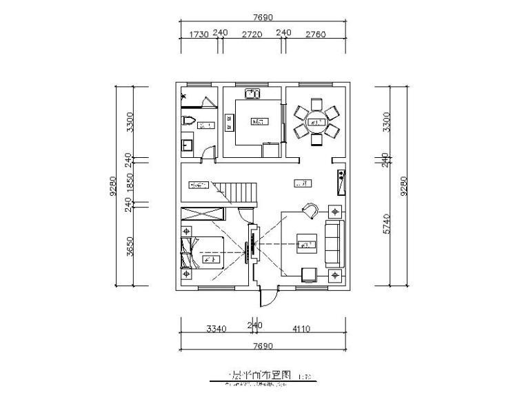 一套极简风格样板房设计CAD施工图(含效果图)