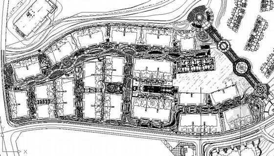 [三亚]欧式花园洋房样板区园林景观工程施工图