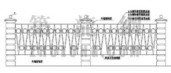 标准围墙详图(一)
