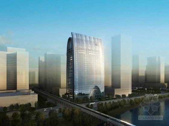 [浙江]25层企业办公楼建筑方案文本(含CAD)