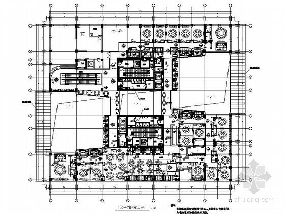 [北京]休闲现代社交聚会空间中青旅店室内CAD装修图(含实景)