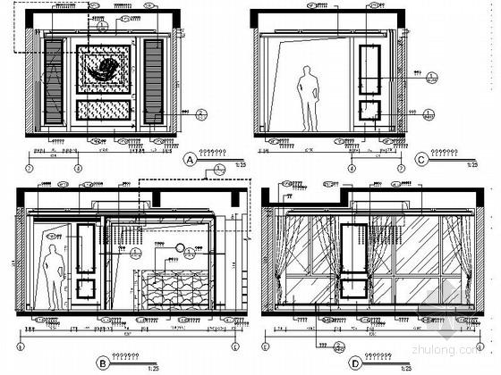 [成都]北美风格三层别墅样板间室内装修图(含方案文本) 餐厅立面