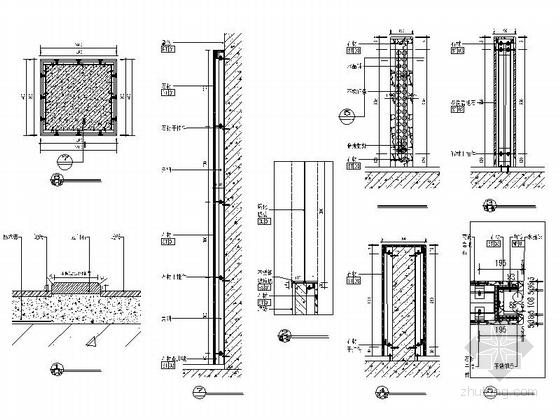 [原创]全国连锁高档特色烤鱼店室内装修施工图(含方案)节点图