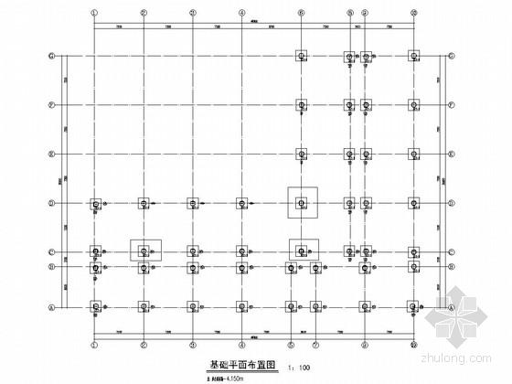 [山东]四层框架结构宿舍楼结构施工图