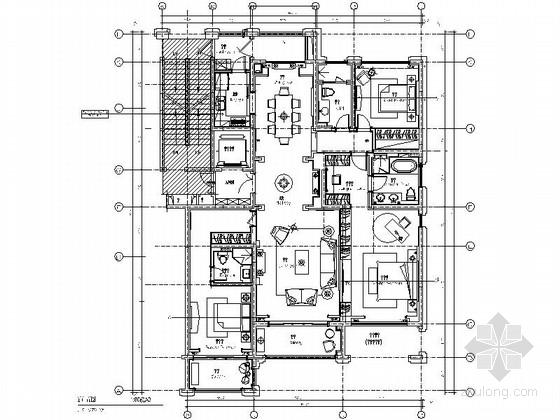 美式风格三居室设计装修图(含效果)