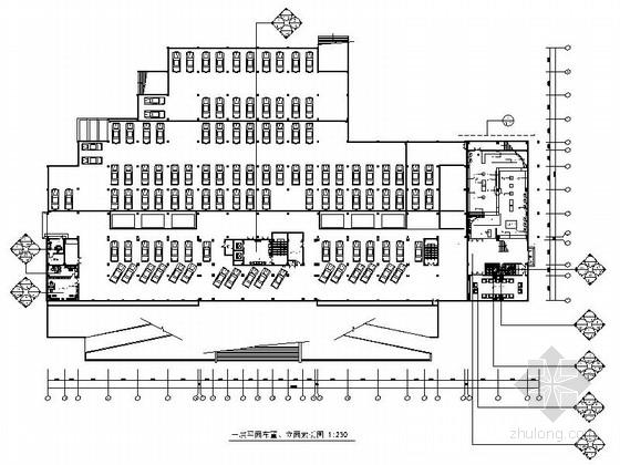 [南京]现代化城市重要国防科技生产基地办公楼装修设计施工图
