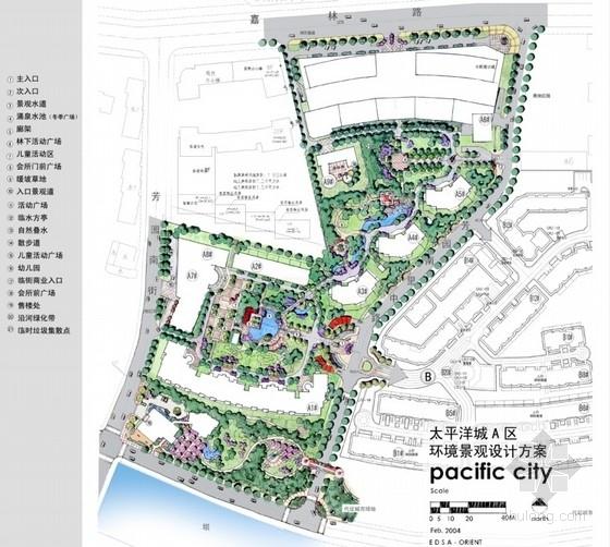 [北京]欧式新古典风格高级住宅区景观设计方案