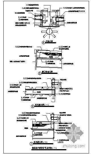 某钢结构天窗设计节点构造详图(一)