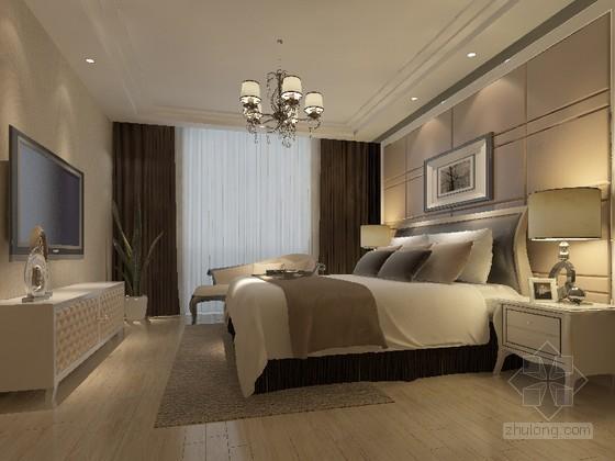 简约时尚卧室3D模型下载