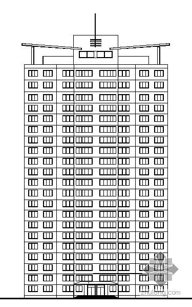 [威海]某国贸公寓改建工程建筑施工套图