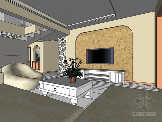 简单室内场景sketchup模型下载