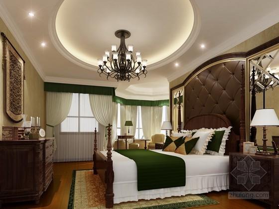 古典美式风格卧室3d模型下载