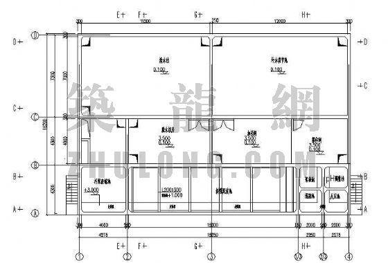 某化工厂(合成氨)污水处理施工图