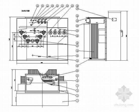 ZGS9-H-800密封式组合变压器全套箱体图纸