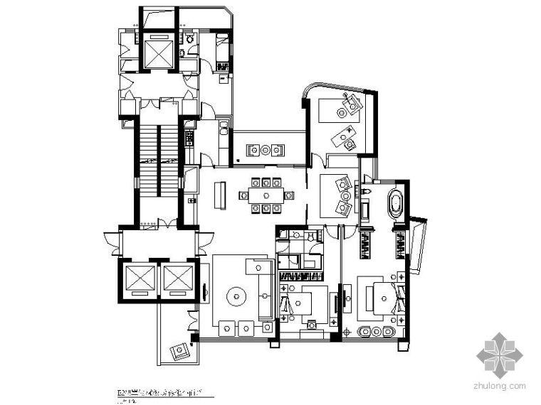 [杭州]简约风格四居样板房装修图
