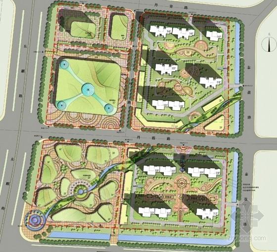超高层城市综合体规划总平面图