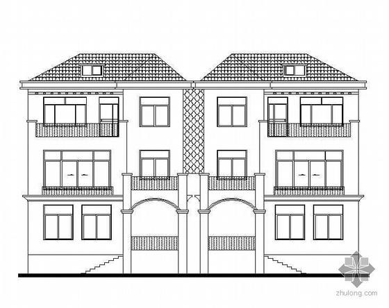 [江西]某花园小区欧式风格联体别墅建筑结构水电施工图