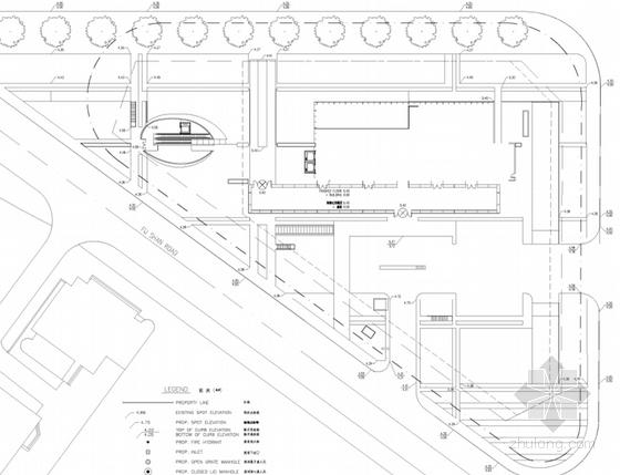 [上海]超高层知名金融办公建筑设计方案文本(知名事务所)-超高层知名金融办公建筑总平面图