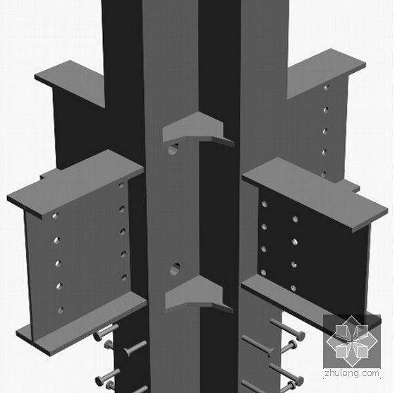 [广东]框剪结构、钢结构超高层塔楼总承包施工组织设计(400余页)-预留穿筋孔示意图