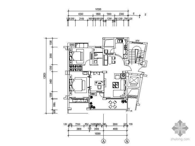[上海]新古典二居样板房设计图(含实景)