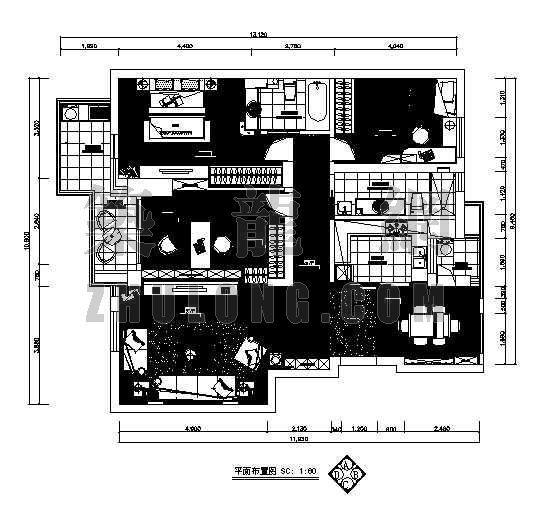 三室两厅两卫装修图