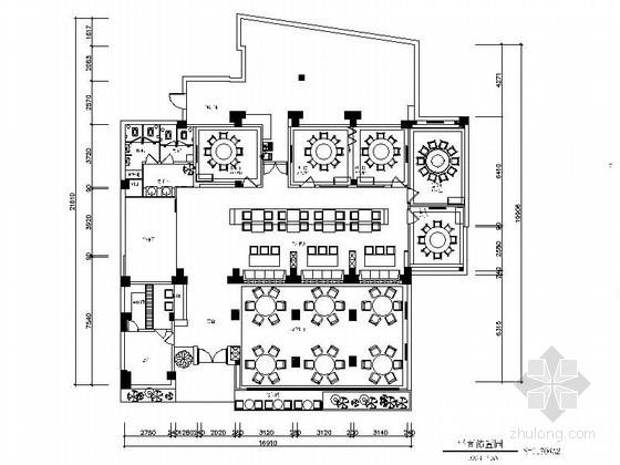[福州]混搭超经典海鲜主题餐厅室内装修施工图(含效果)