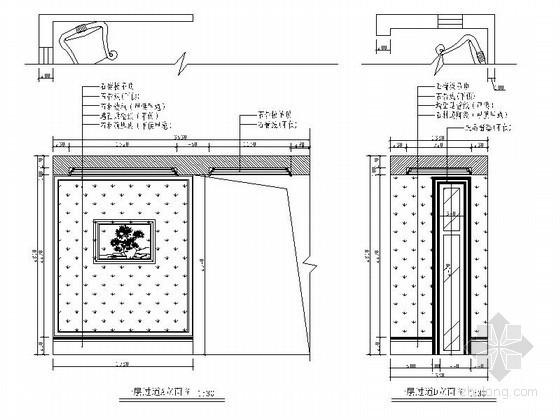 [北京]某奢华别墅过道立面图
